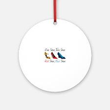 One Shoe Two Shoe, Red Shoe, Blue Shoe Ornament (R