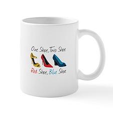 One Shoe Two Shoe, Red Shoe, Blue Shoe Mugs