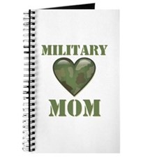 Military Mom Camouflage Camo Heart Journal