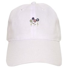 Button Flowers Baseball Baseball Cap