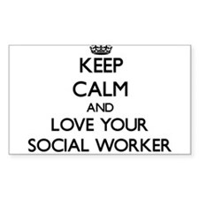 Keep Calm and Love your Social Worker Decal