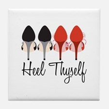 Heel Thyself Tile Coaster