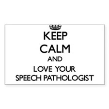 Keep Calm and Love your Speech Pathologist Decal