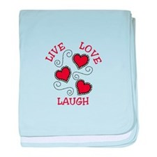 LIVE LOVE LAUGH baby blanket
