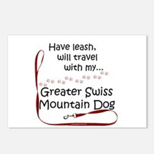 Swissy Travel Leash Postcards (Package of 8)