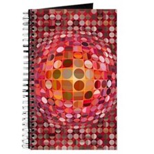 Optical Illusion Sphere - Pink Journal