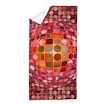 Optical Illusion Sphere - Pink Beach Towel
