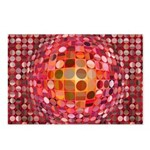 Optical Illusion Sphere - Pink Postcards (Package