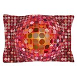 Optical Illusion Sphere - Pink Pillow Case