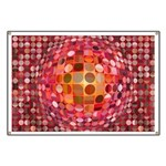 Optical Illusion Sphere - Pink Banner