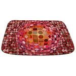 Optical Illusion Sphere - Pink Bathmat