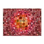Optical Illusion Sphere - Pink 5'x7'Area Rug