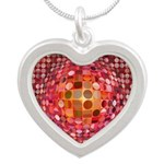 Optical Illusion Sphere - Pink Necklaces