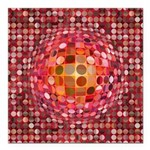 Optical Illusion Sphere - Pink Square Car Magnet 3