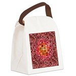 Optical Illusion Sphere - Pink Canvas Lunch Bag