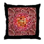 Optical Illusion Sphere - Pink Throw Pillow
