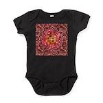 Optical Illusion Sphere - Pink Baby Bodysuit