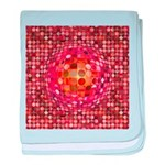 Optical Illusion Sphere - Pink baby blanket