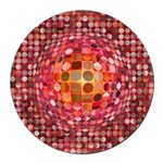 Optical Illusion Sphere - Pink Round Car Magnet