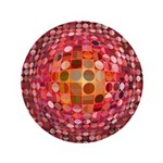 Optical Illusion Sphere - Pink 3.5