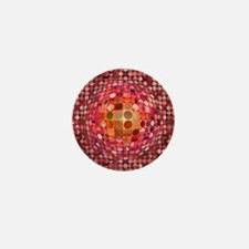 Optical Illusion Sphere - Pink Mini Button
