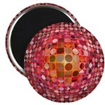 Optical Illusion Sphere - Pink Magnets