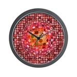 Optical Illusion Sphere - Pink Wall Clock