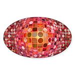 Optical Illusion Sphere - Pink Sticker