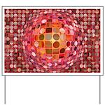 Optical Illusion Sphere - Pink Yard Sign