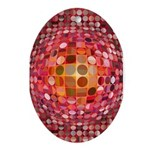 Optical Illusion Sphere - Pink Ornament (Oval)