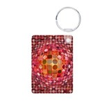 Optical Illusion Sphere - Pink Keychains