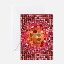Optical Illusion Sphere - Pink Greeting Cards