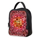 Optical Illusion Sphere - Pink Neoprene Lunch Bag