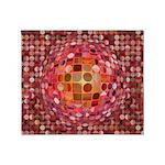 Optical Illusion Sphere - Pink Throw Blanket