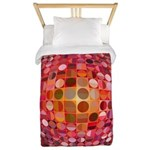 Optical Illusion Sphere - Pink Twin Duvet