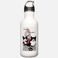 Cats Double the Troubl Water Bottle