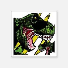 "T-Rex (White) Square Sticker 3"" x 3"""