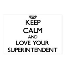 Keep Calm and Love your Superintendent Postcards (