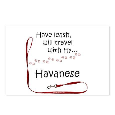 Havanese Travel Leash Postcards (Package of 8)