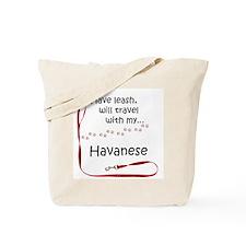 Havanese Travel Leash Tote Bag