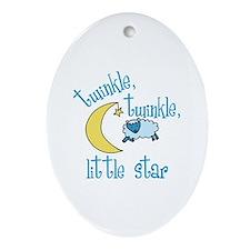 twinkle, twinkle, little star Ornament (Oval)