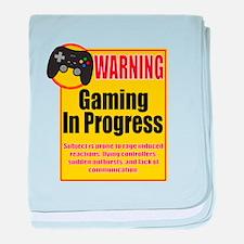 Gaming In Progress baby blanket