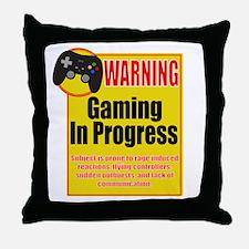 Gaming In Progress Throw Pillow