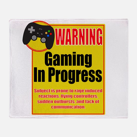 Gaming In Progress Throw Blanket