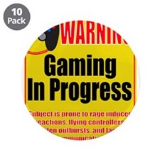 """Gaming In Progress 3.5"""" Button (10 pack)"""