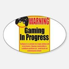 Gaming In Progress Decal