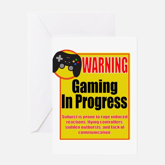Gaming In Progress Greeting Cards