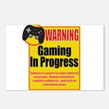 Gaming In Progress Postcards (Package of 8)