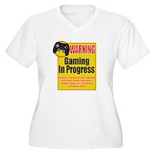 Gaming In Progress Plus Size T-Shirt