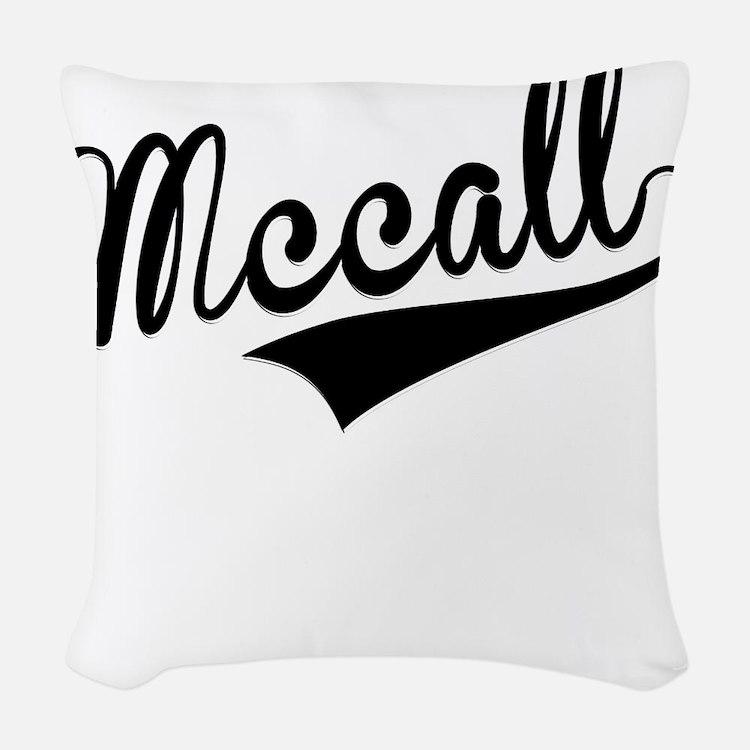 Mccall, Retro, Woven Throw Pillow
